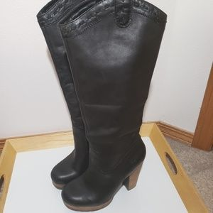 Lucky Brand Northview black leather boots size 7